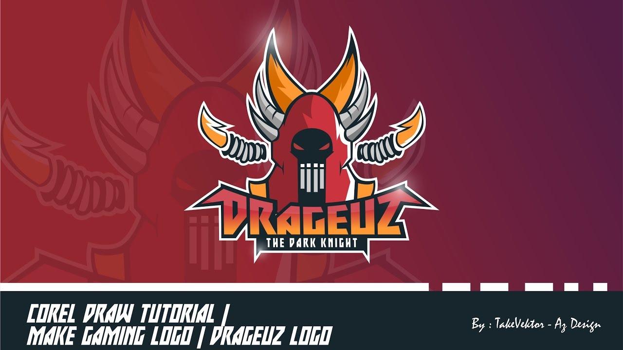 Corel Draw Tutorial | Make Gaming Logo | Drageuz Logo by