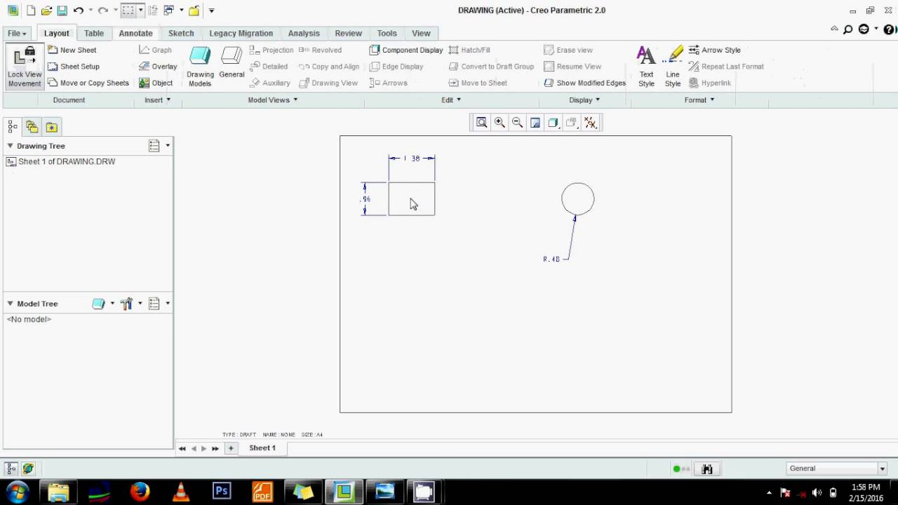 How to make a 2d drawing in creo proe tutorial creo for 2d blueprint maker