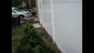 How To Correctly Install Six 6' Foot Vinyl Privacy Fence - Fencing Tricks To Proper Installation