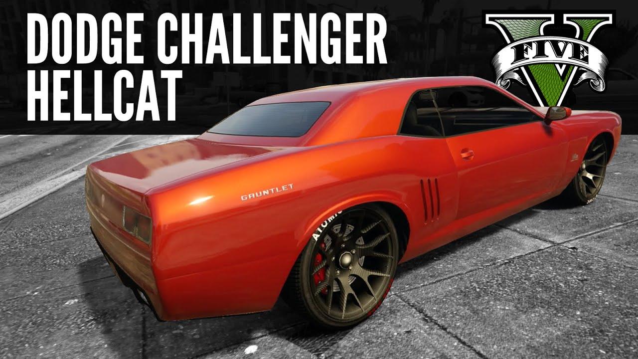 Bravado Gauntlet Dodge Challenger Hellcat Build Gta5 Ps4