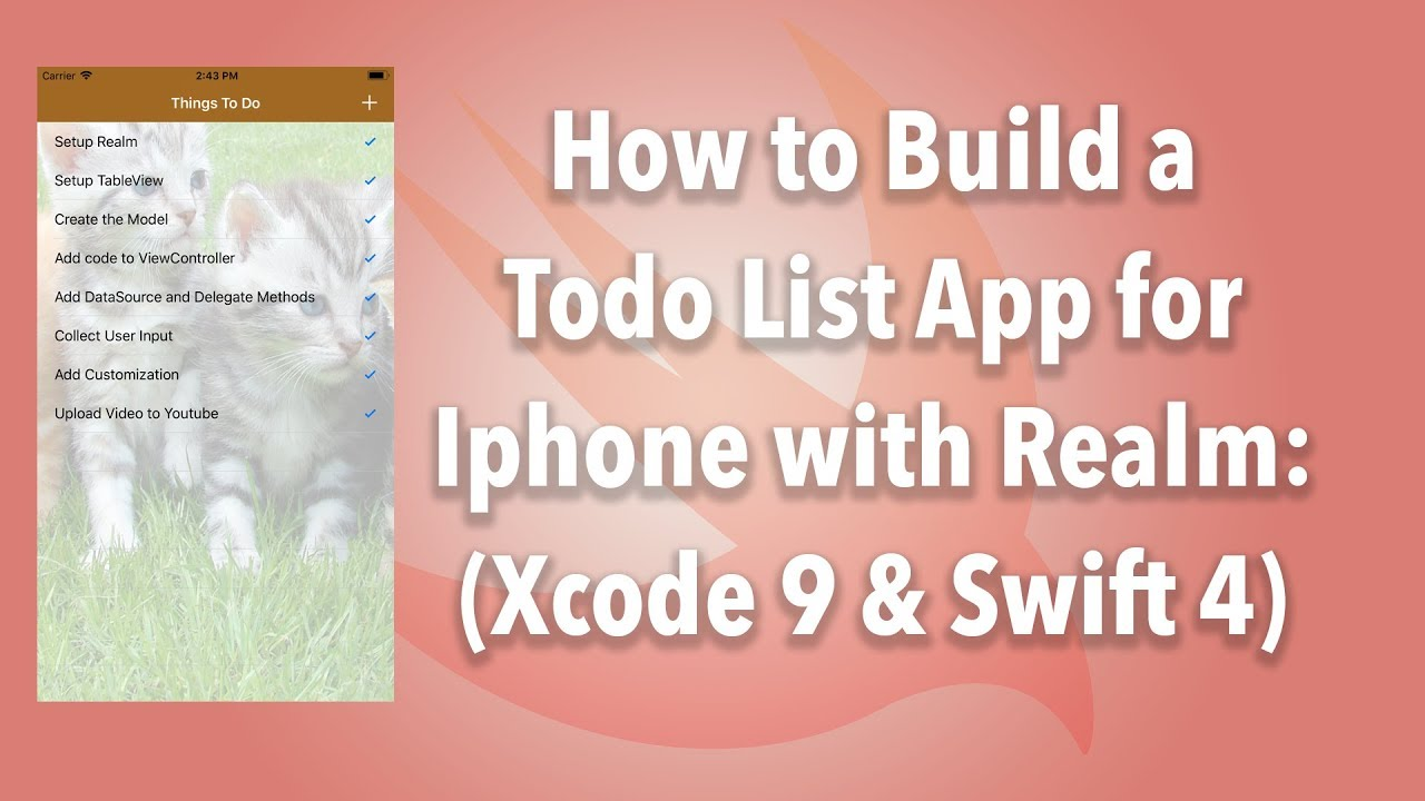 IOS] Realm Database Tutorial (Xcode 9 2 & Swift 4) - KodeChamp