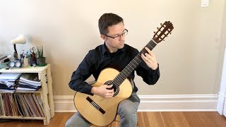 lesson: study in b minor no. 22, op. 35 by sor for classical guitar