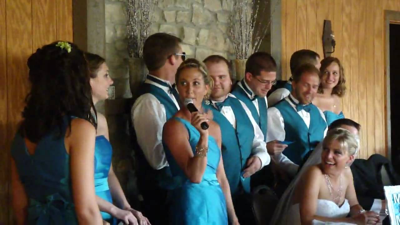 Maid of honor speech breaks into song - YouTube