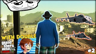 DANGEROUS SELFIE, FUNNIEST MOMENTS AND AWESOME GLITCHES - GTA 5 Funny Moments w/ DOUBLE | PART 2