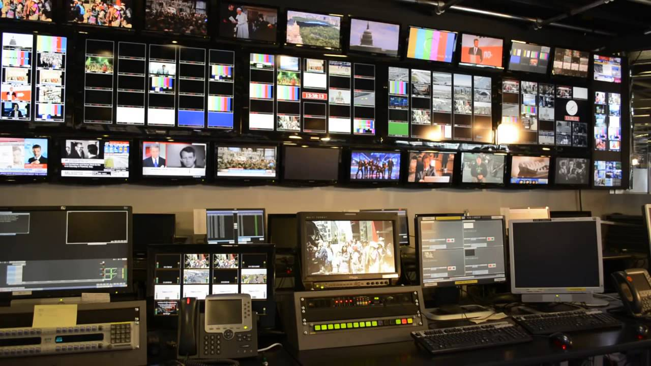HD Television News Control Room Background YouTube
