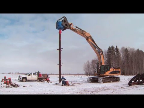 Transmission line construction update - video