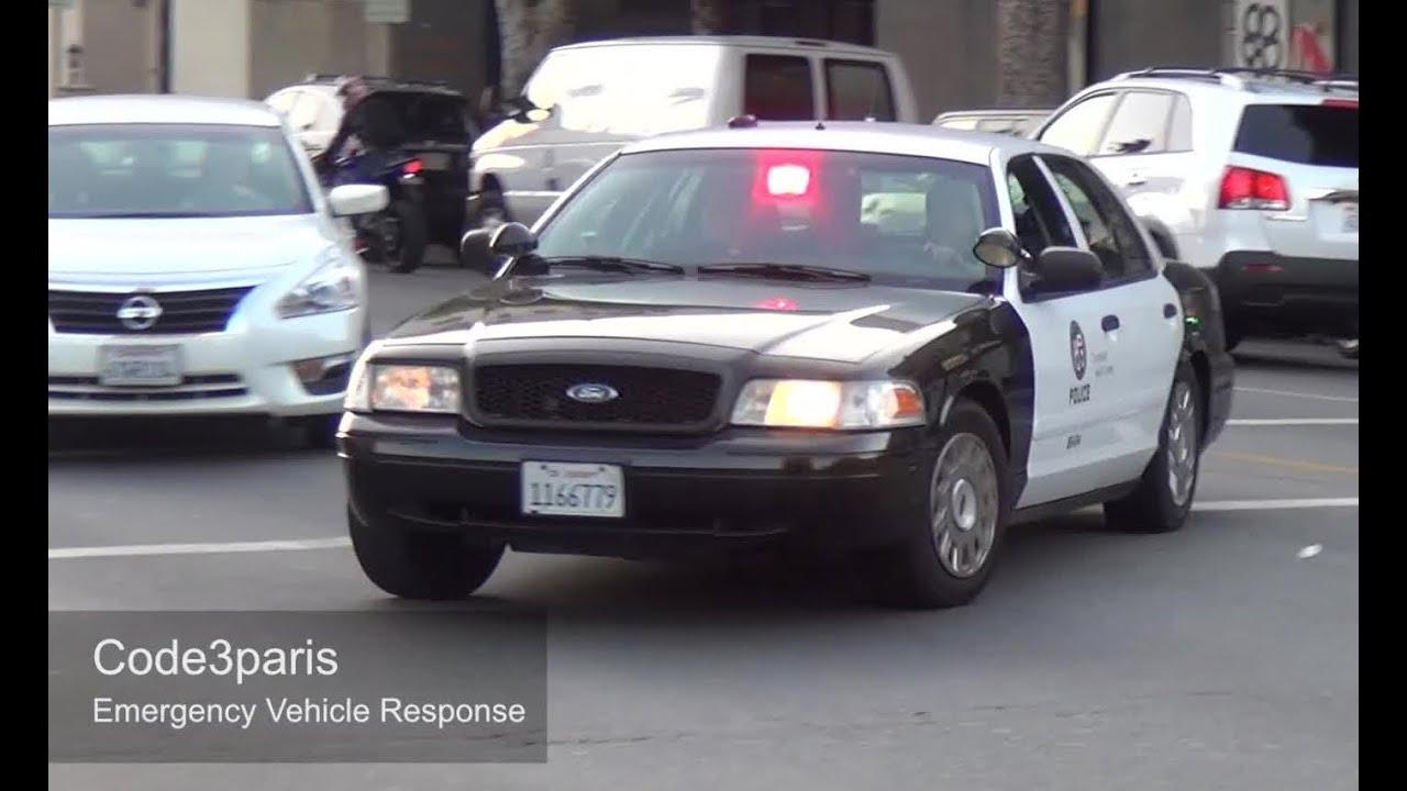 Police Car Lights Wallpaper Police Car Responding Lapd Slicktop Steady Burn Red