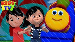 Rain Rain Go Away Nursery Rhyme   Bob The Train Cartoon   Videos for Children - Kids TV