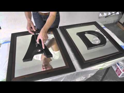 diy divas mirrored frames w monogram letters youtube - Monogrammed Picture Frames