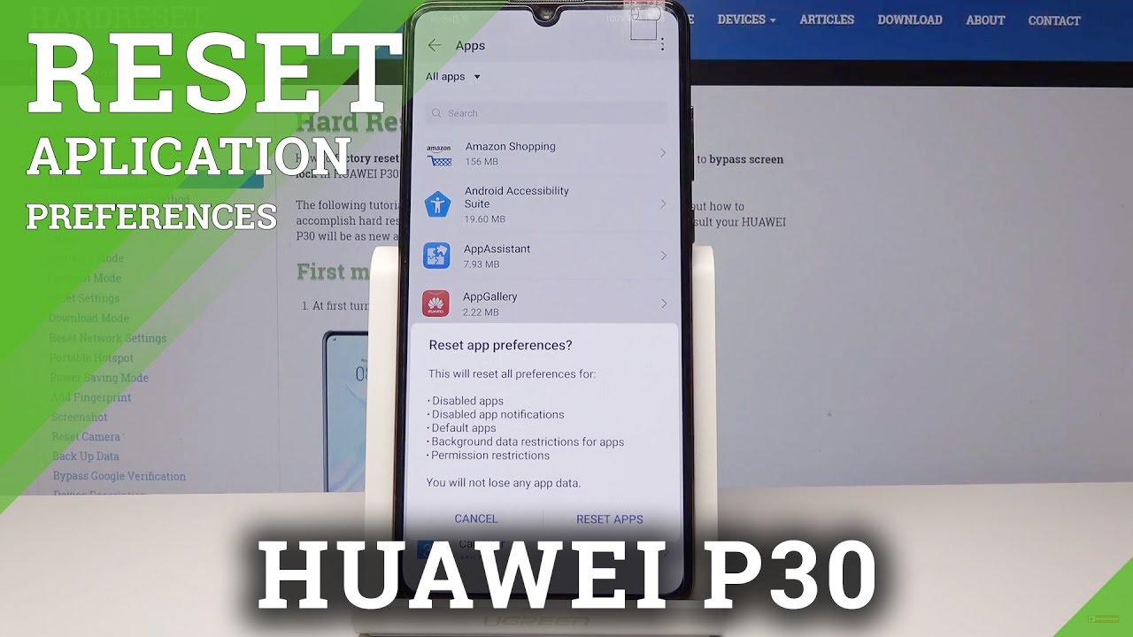 How to Reset App Preferences in Huawei P30 - Default App Settings