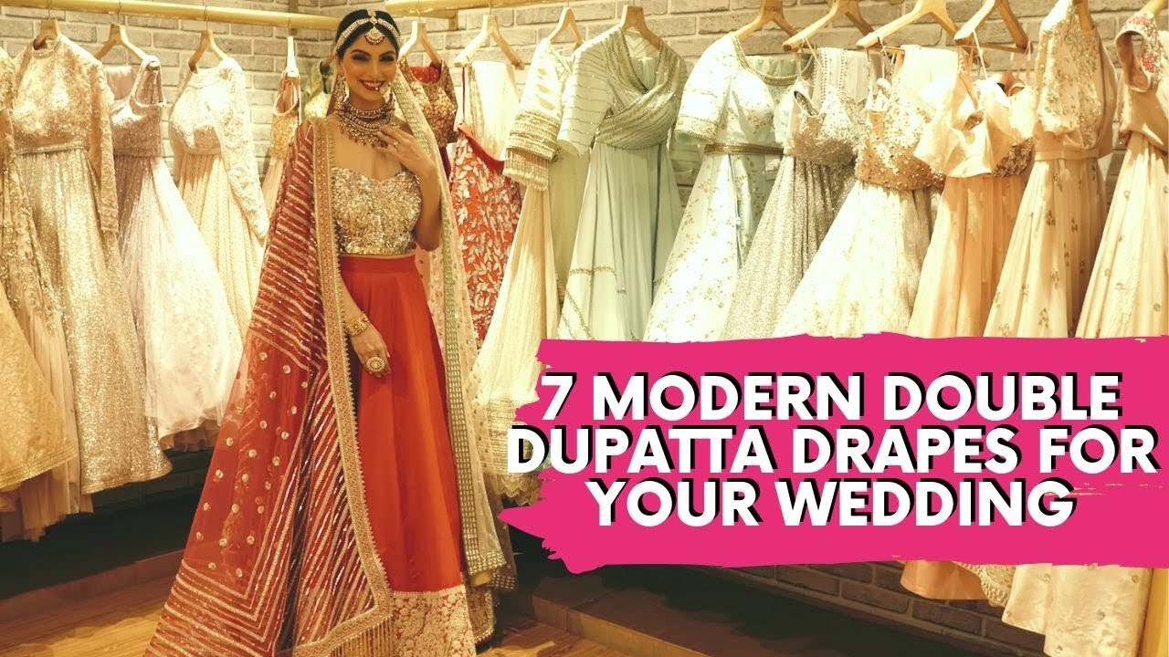 0d554aca0f 30 Dupatta Draping Styles to Drape Your Way to Gorgeousness ! | WedMeGood