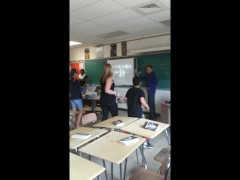 people dancing Starbuck middle school