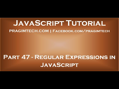 Using regular expressions in JavaScript