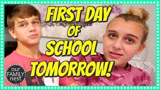 GETTING READY FOR THE FIRST DAY OF SCHOOL || NIGHT ROUTINE