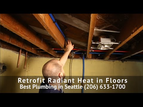 radiant heat installation - two ways to retrofit an existing home