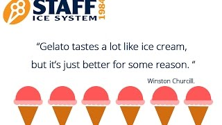 One Minute of Italian Gelato Making by Staff Ice System