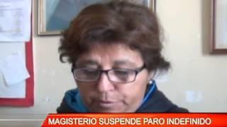 MAGISTERIO SUSPENDE PARO INDEFINIDO