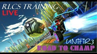 ROCKET LEAGUE (RLCS Training + Road To Champ) #2 | PS4 Gameplay | LIVE Stream