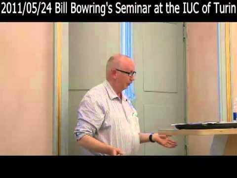 2011/05/24 Bill Bowring's Seminar at the IUC of Turin