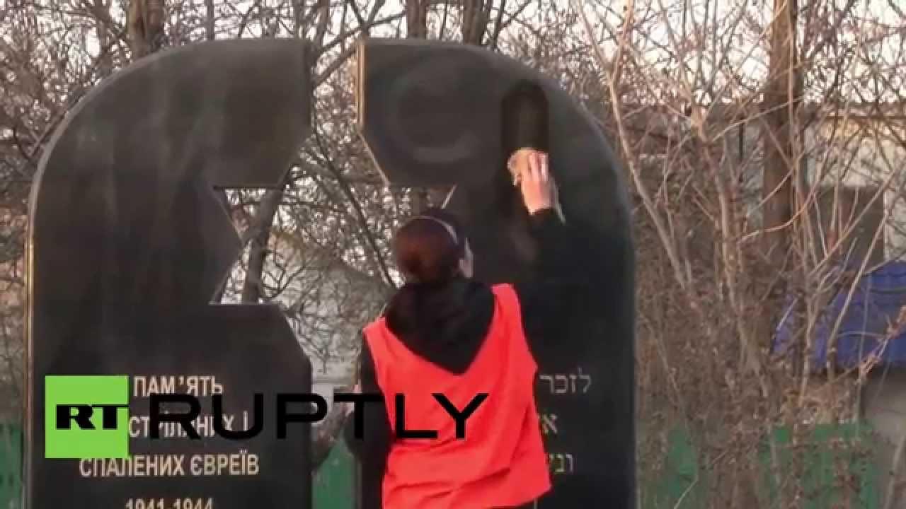 Download Ukraine: Odessa Holocaust memorial vandalised with Nazi symbols