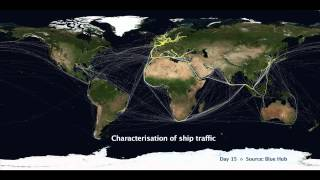 JRC reveals global traffic routes using LRIT ship tracking data