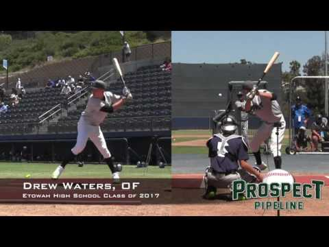 Drew Waters Prospect Video, OF, Etowah High School Class of 2017, Home Run Derby at PGAAC