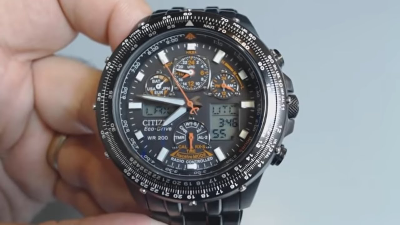 b146fabc527 Men s Citizen Skyhawk A.T Atomic Eco Drive Watch JY0005-50E - YouTube