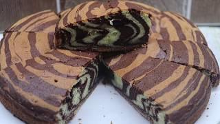 Пирог Зебра на сметане /Простой рецепт Очень Вкусного и Быстрого пирога!