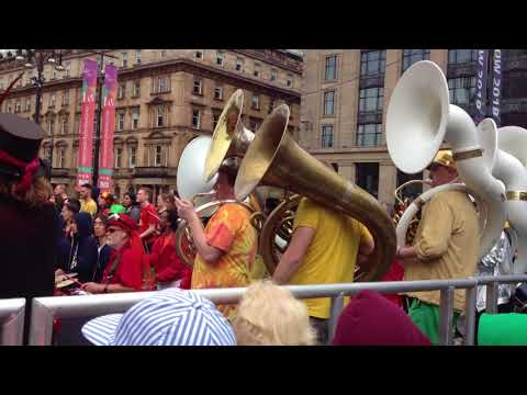 SAmba Bands Grand Finale At Glasgow Merchant City Festival 2017