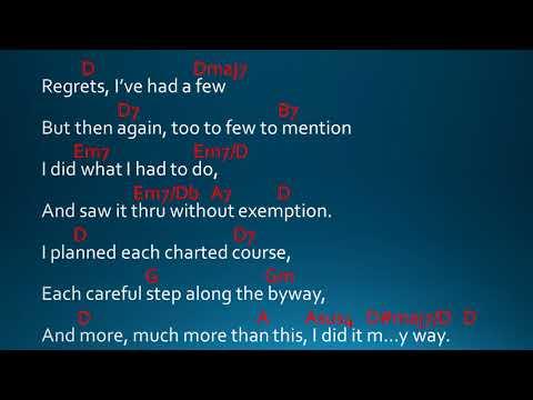 My Way by Frank Sinatra Lyrics and Chords