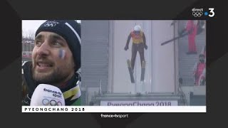 JO 2018 : Saut à ski - Compétition par équipe / Jason Lamy-Chappuis :