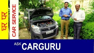 Car Service, Check Before, Weekend Trips, Car Service at home on WagonR. Desi Driving School