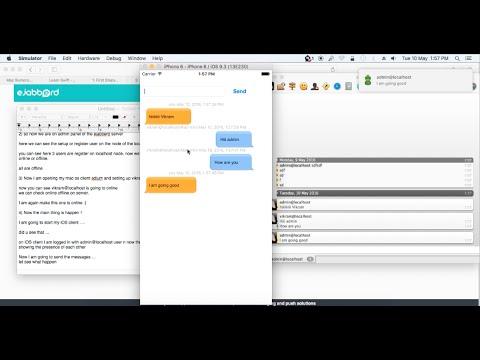 Ejabberd XMPP client iOS - Logic behind WhatsApp