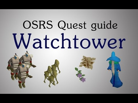 OSRS Watchtower quest guide staminas
