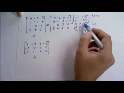 Determine if the columns of the matrix form a linearly independent set. Justify each answer