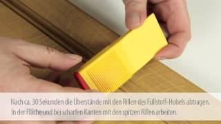 Tvrdý vosk k opravě větších rýh a děr na povrchu nábytku