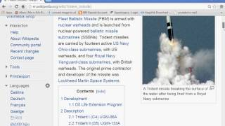 The Trident 133 Missile: Weapon Of Neptune, Weapon of the New World Order
