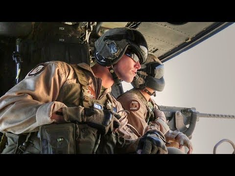 U.S. Marines UH-1Y Huey Close Air Support Drills