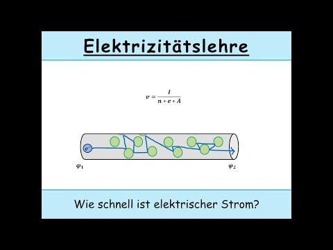 Geschwindigkeit von elektrischem Strom – Wie schnell ist Strom? Eine physikalische Übungsaufgabe.