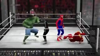 Халк, человек паук, бэтмен, супермен, железный человек