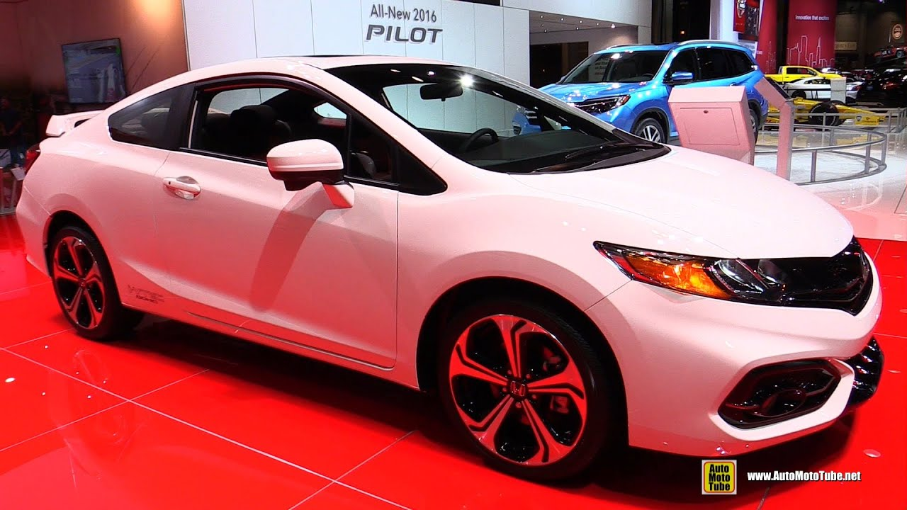 2015 honda civic si coupe exterior and interior walkaround 2015 chicago auto show youtube. Black Bedroom Furniture Sets. Home Design Ideas