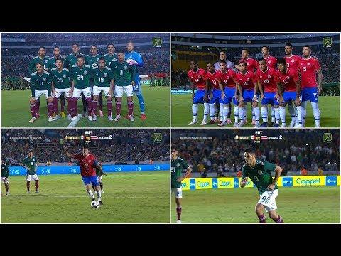 MEXICO VS COSTA RICA 3 - 2  Amistoso 11 OCT 2018