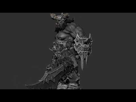 Fan Art Of Warcraft- ORC By Gaurav Kumar
