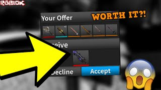 ATTEMPTING TO TRADE FOR COMPETITOR BLADE II *WORTH IT?! * (ROBLOX ASSASSIN COMP BLADE II TRADES)