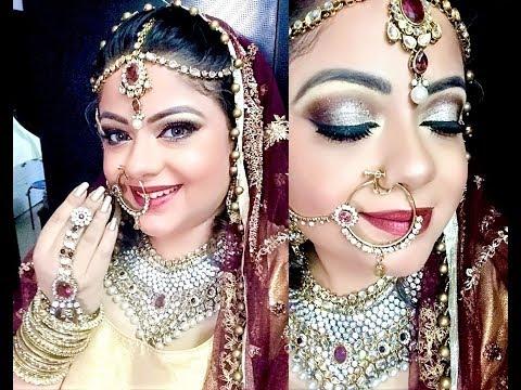 Asian Bridal Makeup Indian Bridal Makeup Desi Wedding Saga - Indian-bridal-makeup-videos-free