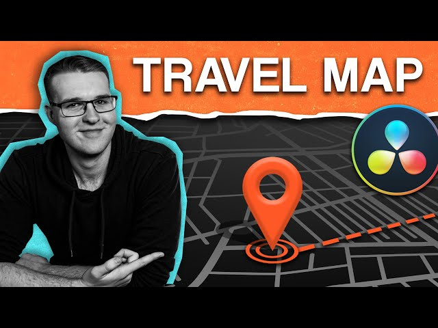 How to Make CLEAN Animated Travel Maps with Davinci Resolve!