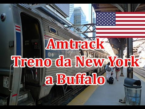 Amtrak's train from New York to Buffalo (window view) USA