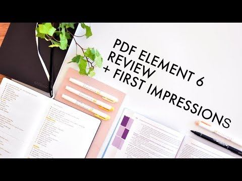 PDF EDITOR REVIEW + First Impressions // PDFElement 6