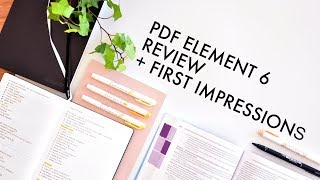 pDF EDITOR REVIEW  First Impressions // PDFelement 6