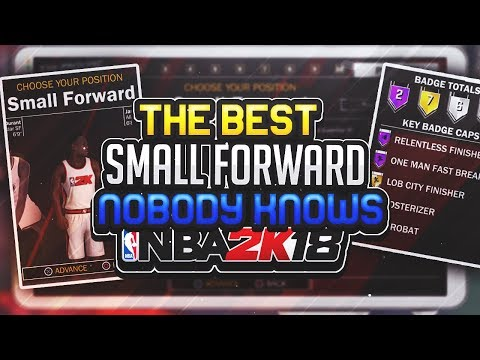 NBA 2K18 BEST SMALL FORWARD PLAYER BUILD! ‌• 99.99% OF PEOPLE DON